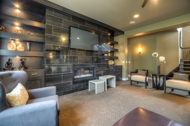 Street of Dreams 2012- Custom contemporary-family-room