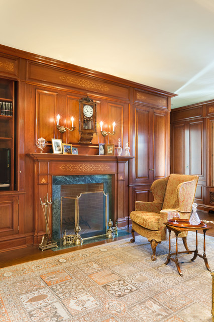 Study, Mansion, Old Greenwich, New York traditional-family-room