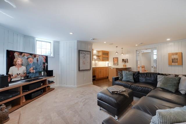 basement transitional family room - photo #32