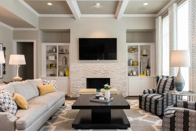 Stunning Residential Makeover Klassisch Modern Wohnzimmer