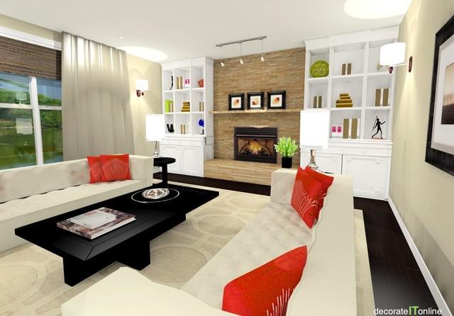 stylish family room makeover
