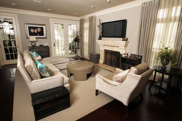 Suburban Family Oasis traditional-family-room