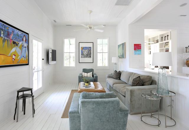 Sullivan's Island Renovation and Interior Design contemporary-family-room
