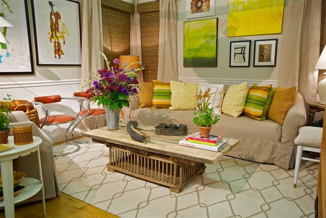 Summer House Setting Housing Work 39 S Design On A Dime 2013 Eclectic Family Room New York