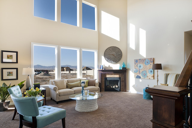 Summerlin Meadows Model - Telluride Design traditional-family-room