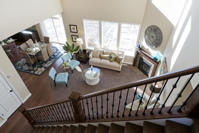 Summerlin Meadows Model - Telluride Design traditional-family-room