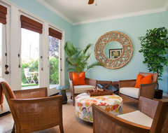 Sun Room tropical-family-room
