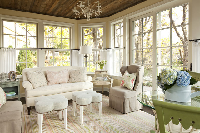 sunnyside road residence family room shabby chic style wohnzimmer minneapolis von martha. Black Bedroom Furniture Sets. Home Design Ideas