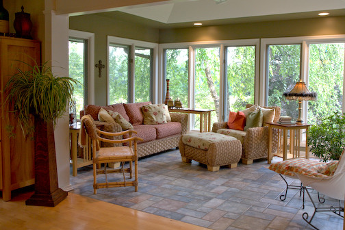 Sophisticated Sunroom Off Kitchen Design Ideas Contemporary
