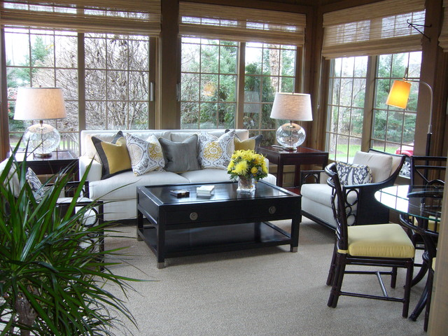 sunroom furniture arrangement. Sunroom Transitional-family-room Furniture Arrangement