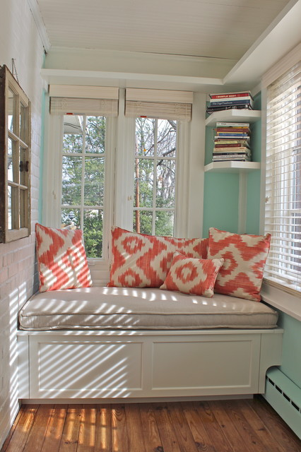 Sunroom Window Seat Traditional Family Room New York