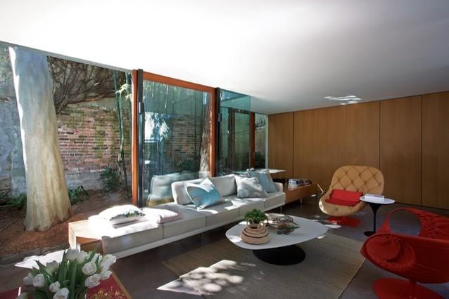 Surry hills garden pavilion by jackson teece architects for Sala de estar sims 4