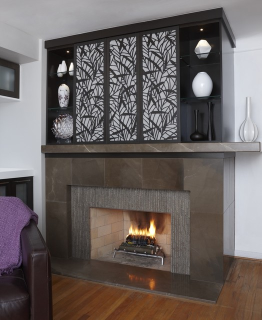 Sushi chic modern family room other metro by xstyles bath more - Houzz fireplace screens ...