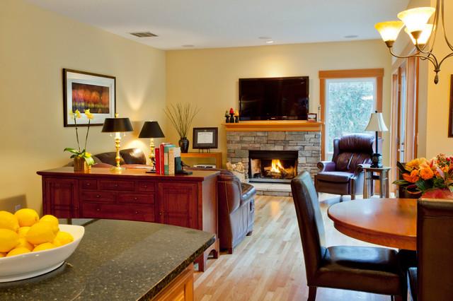 SW Portland - Main Level traditional-family-room