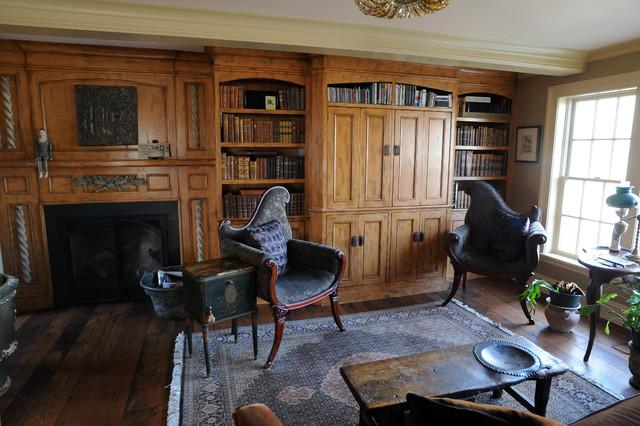 Swampscott Restoration Traditional Family Room