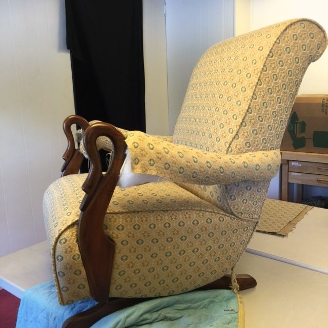 Swan neck rocking chair traditional family room for Swan chairs for sale