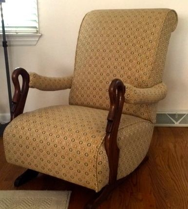 Swan neck, Goose neck, duck neck wooden rocking chair? What is it?