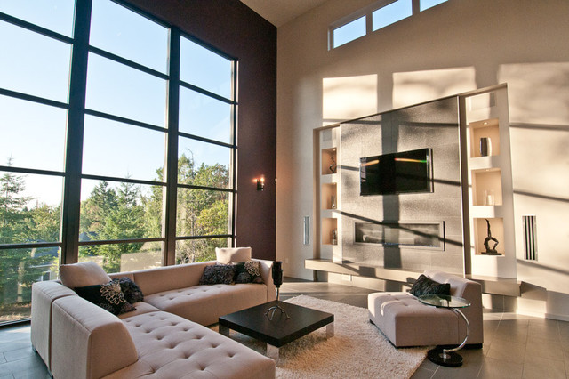 Synergy great room window wall modern family room for Living room 6 portland