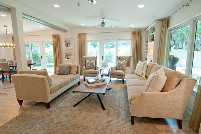 Tarrytown remodel contemporary-family-room