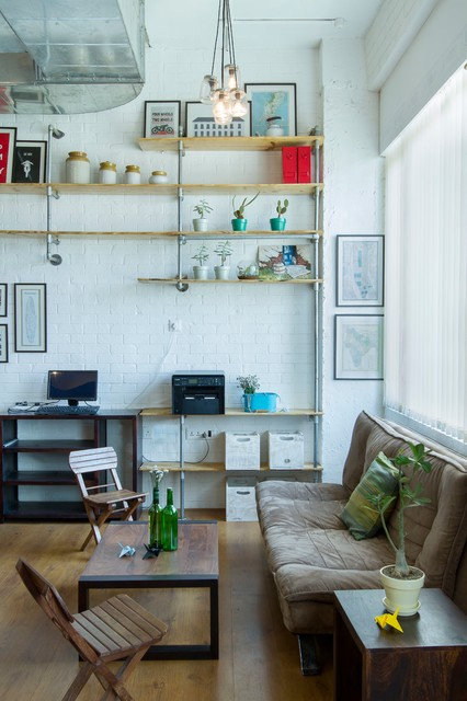 Tech Startup Industrial Grade : industrial living room from www.houzz.in size 426 x 640 jpeg 72kB