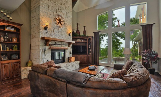 Texas Hill Country Home Traditional Family Room Dallas By Mike Blake Custom Homes