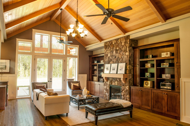 The Ashby Traditional Family Room Vancouver By Alan Mascord Design Associates Inc