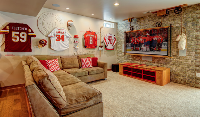 The Game Room Industrial Family Room Dc Metro By