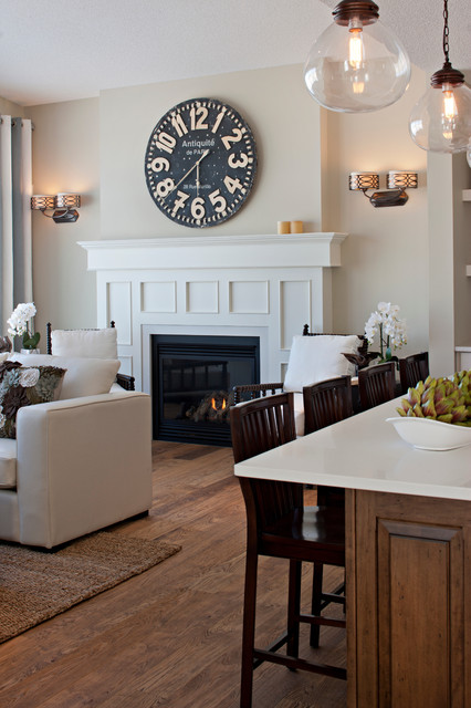 The Hawthorne Great Room Fireplace Traditional