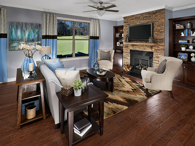 The Hillsborough II Plan at Devonridge   Charlotte, NC family-room