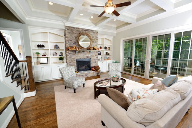 The Jensen Homeplan Traditional Family Room Raleigh