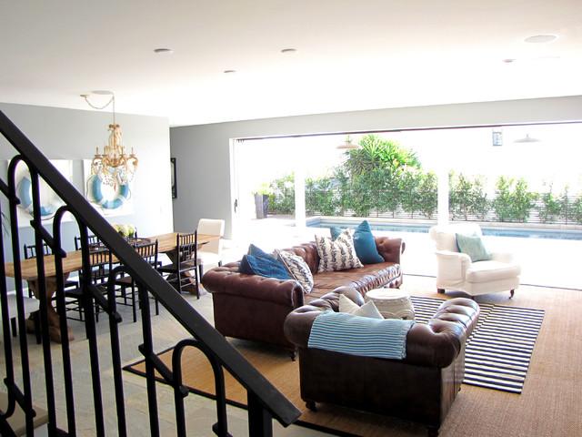 The Sandberg Home beach-style-family-room