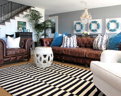 The Sandberg Home beach-style-family-room