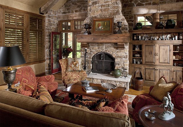 The Woodshop of Avon traditional family room