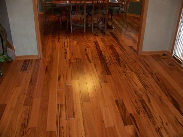 Tigerwood Hardwood Flooring Traditional Family Room