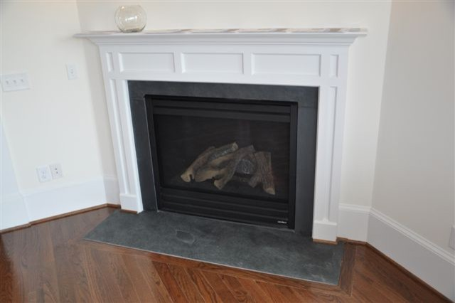Black Cleft Slate Fireplace : Tile bathrooms fireplace surrounds