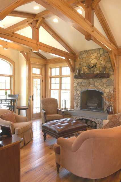 Timber framed Family Room eclectic-family-room