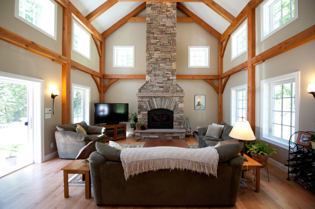 Timberpeg Post and Beam, Derry, NH traditional-family-room