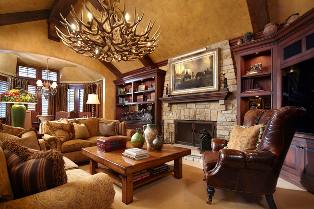 Timeless Tudor Estate Traditional Family Room