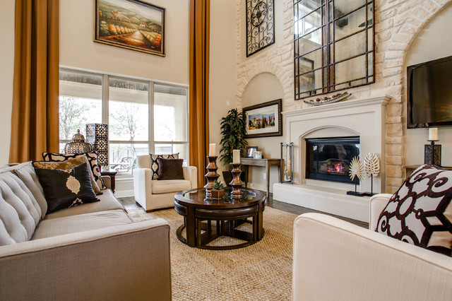 contemporary-family-room Decorating A Basement Family Room
