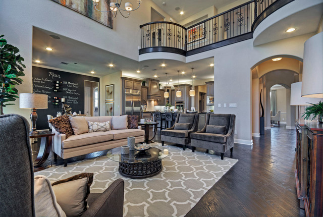 Perfect Toll Brothers Plano, TX Model Contemporary Family Room