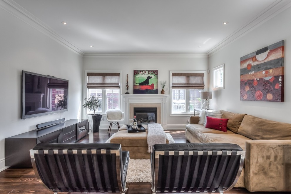 Town House Makeover Markham Contemporary Family Room