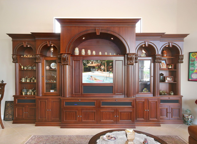Traditional Entertainment Centers - Traditional - Family Room - Miami - by Custom Artisan Cabinetry