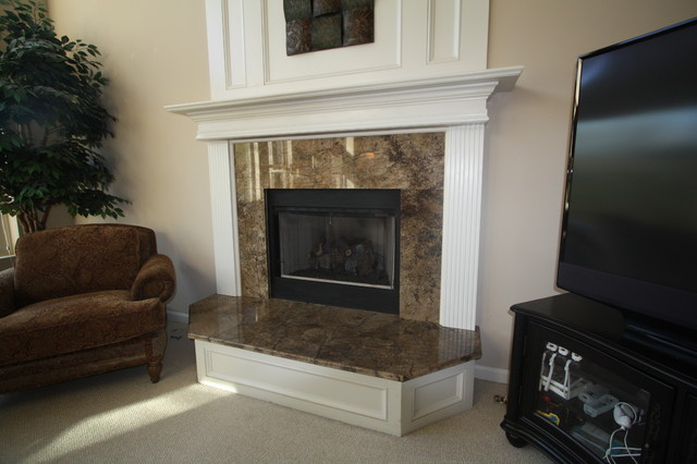 Granite Fireplace Surround - Traditional - Family Room - Cleveland ...