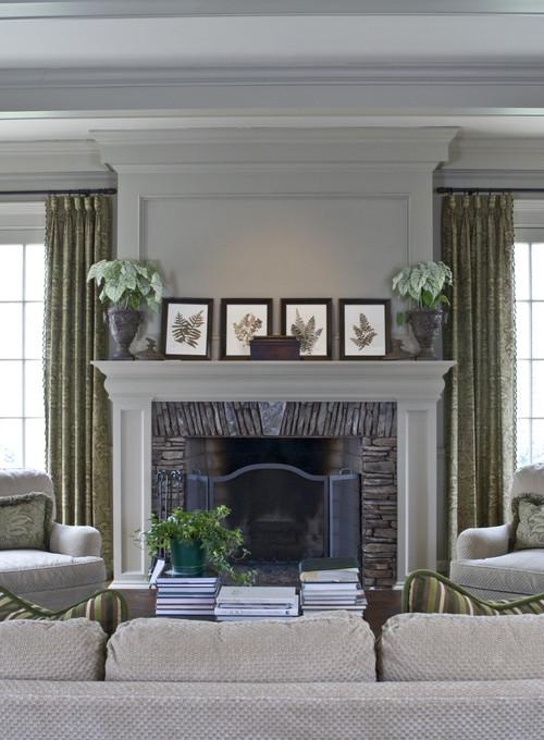Decorating Ideas > Mantel Height Ceiling Height ~ 122847_Fireplace Decor Ideas Houzz