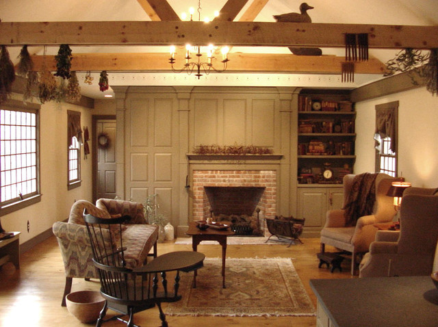 Cch interiors gallery american traditional family for 18th century farmhouse interiors