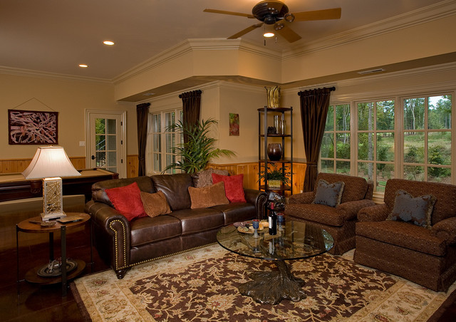 Basement Retreat Traditional family room