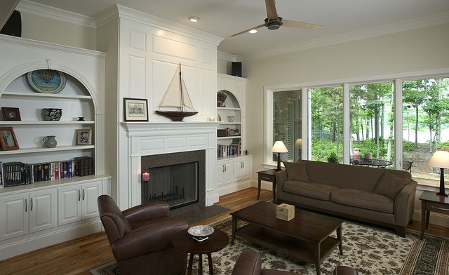 Living Spaces traditional family room
