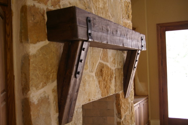 Mantel Straight Leg Corbels Traditional Family Room