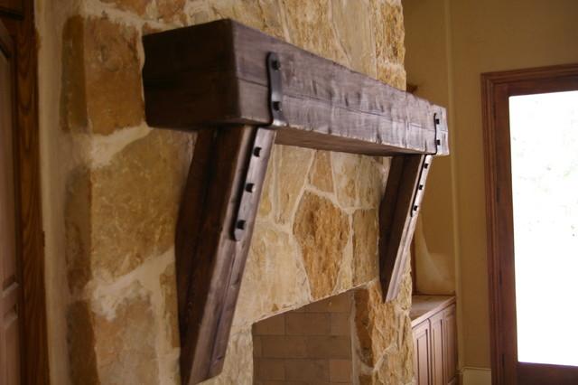 Mantel Straight Leg Corbels Traditional Family Room