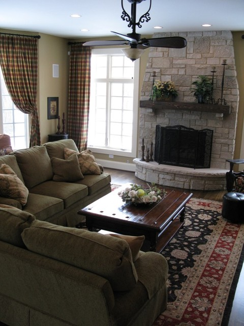 New Construction - Oak Brook traditional family room